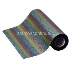 Glitter Heat Transfer vinyl for fabrics Rainbow