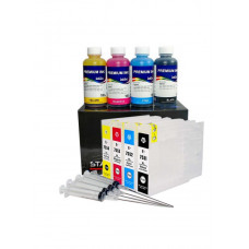 Refillable cartridges for Epson series T7551 - T7554 with InkTec ink 400ml
