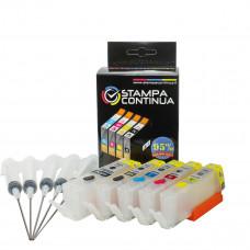 Refillable cartridges for Canon PGI-550 PGBK CLI-551BK CLI-551C CLI-551M CLI55Y