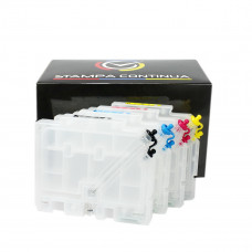 4 Refillable cartridges GC 31 series for Ricoh printer