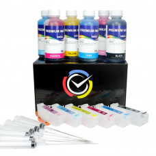 Refillable cartridges for Epson series 24 , 24XL with InkTec ink 600ml