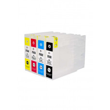 Refillable cartridges for Epson series T7551 - T7554 with autoreset chip